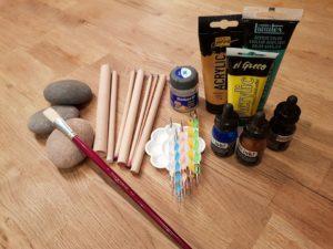 Materialien fürs Steinebemalen | Pouringpaws
