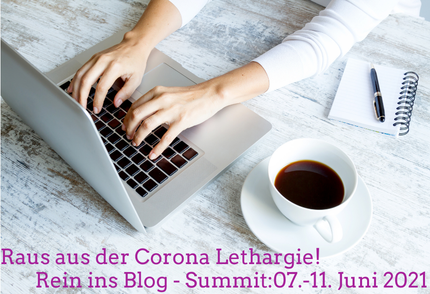 Blogger:in bei der Arbeit