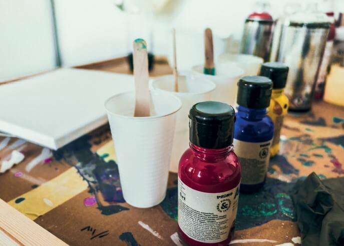 Pouring in progress aus dem Acrylic Pouring 1 x 1 E-Book